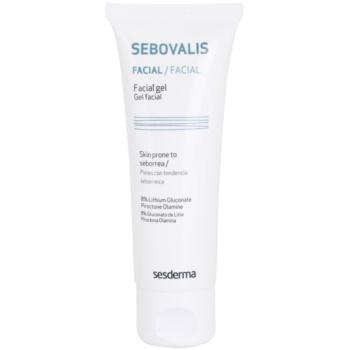 Sesderma Sebovalis gel antinfiammatorio per la riduzione del sebo e dei pori (Lithium Gluconate) 50 ml
