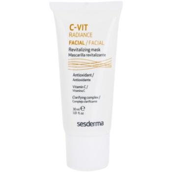 Sesderma C-Vit Radiance maschera illuminante per pelli stanche (2% Vitamin C) 30 ml