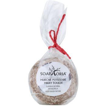 Soaphoria Milky Touch bomba da bagno rigenerante effetto rassodante (Milk Proteins, Jasmine, Coconut Oil) 85 g