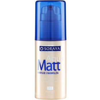 Soraya Aqua Matt fondotinta opacizzante effetto idratante colore 101 Light Beige 30 ml