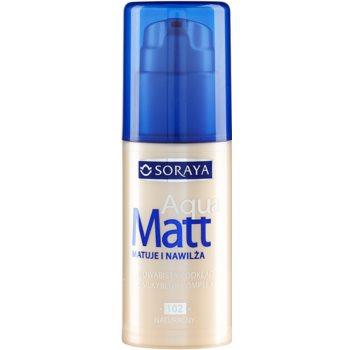 Soraya Aqua Matt fondotinta opacizzante effetto idratante colore 102 Natural 30 ml