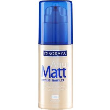 Soraya Aqua Matt fondotinta opacizzante effetto idratante colore 104 Tanned 30 ml