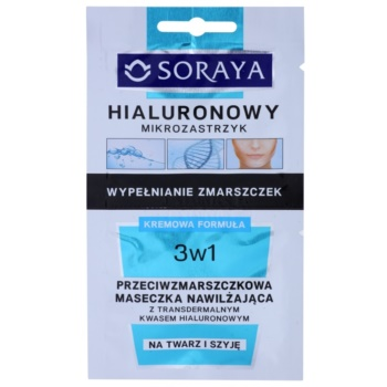 Soraya Hyaluronic Microinjection maschera idratante antirughe con acido ialuronico (Suitable for Face and Neck) 2 x 5 ml