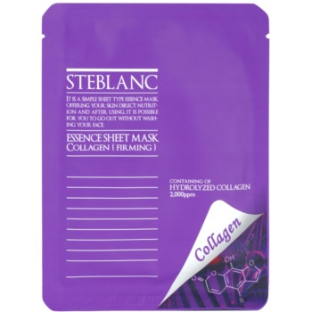 Steblanc Essence Sheet Mask Collagen maschera per tendere la pelle (Containing of Hydrolyzed Collagen) 20 g