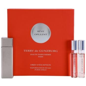 Terry de Gunzburg Reve Opulent eau de parfum per donna 2 x 8,5 ml (2x ricariche con diffusore) + astuccio di metallo