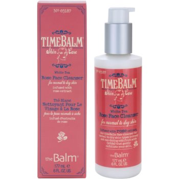 theBalm TimeBalm Skincare Rose Face Cleanser crema gel detergente delicata per pelli normali e secche (Infused With Rose Extract) 177 ml