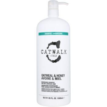 TIGI Catwalk Oatmeal & Honey shampoo nutriente per capelli secchi e sensibili with Pump (Nourishing Shampoo for Dry, Damaged Hair) 1500 ml