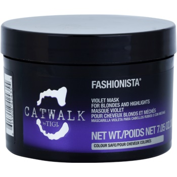 TIGI Catwalk Fashionista maschera viola per capelli biondi e con mèches (Violet Mask for Blondes and Highlights) 200 g