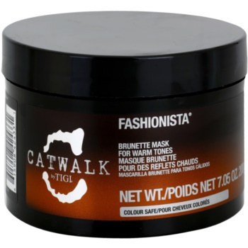 TIGI Catwalk Fashionista maschera per sfumature calde dei capelli castani (Brunette Mask for Warm Tones) 200 g