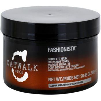 TIGI Catwalk Fashionista maschera per sfumature calde dei capelli castani (Brunette Mask for Warm Tones) 580 g
