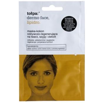 Tołpa Dermo Face Lipidro maschera rigenerante per viso, collo e décolleté (Hypoallergenic) 2 x 6 ml
