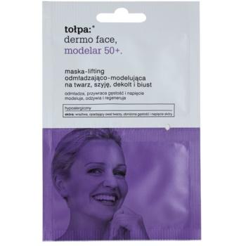 Tołpa Dermo Face Modelar 50+ maschera liftante per viso, collo e décolleté (Hypoallergenic) 2 x 6 ml