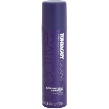 TONI&GUY Creative lacca per capelli fissante extra forte (Gravity Defying Control) 100 ml
