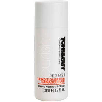 TONI&GUY Nourish balsamo per capelli rovinati (Conditioner for Damaged Hair Intense Moisture & Shine) 50 ml