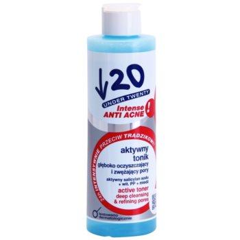 Under Twenty ANTI! ACNE INTENSE lozione tonica di pulizia profonda per chiudere i pori (with Sodium Salicylate and Vitamin PP) 200 ml
