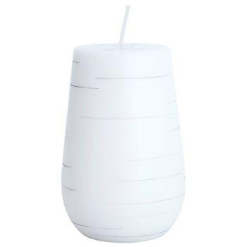 Unipar Nordlys Steep Line White candela decorativa 381 g  (Cone 80 – 120)