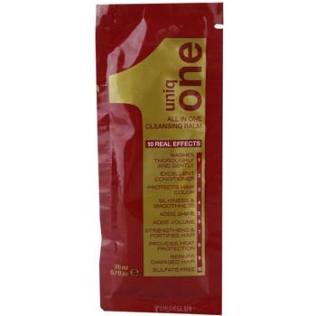 Uniq One All In One balsamo detergente per tutti i tipi di capelli Cleansing Balm (All in One 10 Real Effects) 20 ml
