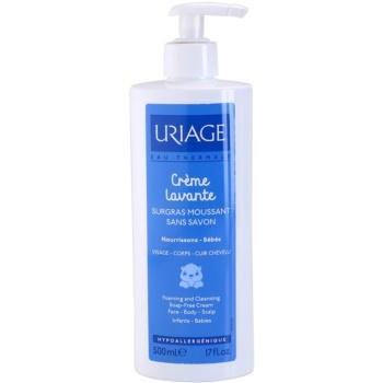 Uriage 1érs Soins Bébés crema detergente per viso, corpo e capelli (Foaming And Cleansing Soap – Free Cream) 500 ml