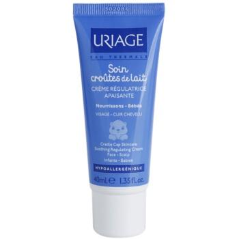Uriage 1érs Soins Bébés crema lenitiva per viso e cuoio capelluto (Cradle Cap Skincare, Soothing Regulating Cream) 40 ml