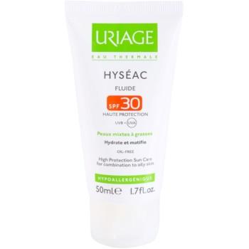 Uriage Hyséac lozione idratante opacizzante SPF 30 (High Protection Sun Care For Combination To Oily Skin) 50 ml