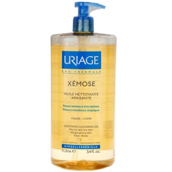 Uriage Xémose olio detergente lenitivo per viso e corpo (Soothing Cleansing Oil) 1000 ml