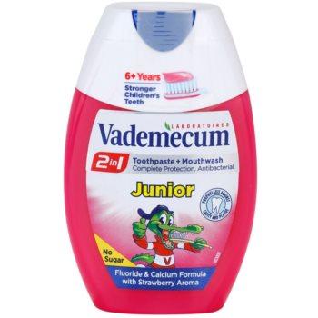 Vademecum 2 in1 Junior dentifricio + collutorio in uno aroma Strawberry (6+ Years) 75 ml