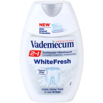 Vademecum 2 in1 White Fresh dentifricio + collutorio in uno (Visibly Whiter Teeth In Just 10 Days) 75 ml