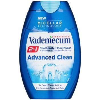 Vademecum Advanced Clean Pro Micellar Technology dentifricio e collutorio 2 in 1 per una protezione completa dei denti (3x Deep Clean Action) 75 ml