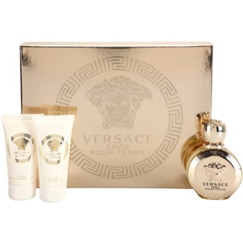 Versace Eros Pour Femme kit regalo I eau de parfum 50 ml + gel doccia 50 ml + latte corpo 50 ml