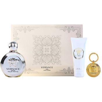 Versace Eros Pour Femme kit regalo IV eau de parfum 100 ml + latte corpo 100 ml + portachiavi