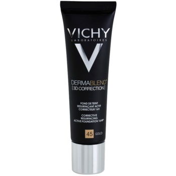 Vichy Dermablend 3D Correction fondotinta lisciante correttore SPF 25 colore 45 Gold (Corective Resurfacing Active Foundation 16 hr) 30 ml