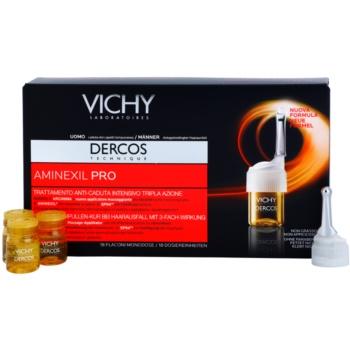Vichy Dercos Aminexil PRO trattamento intensivo anti-caduta dei capelli per uomo (Intensive treatment – triple action – targets hairloss) 18×6 ml