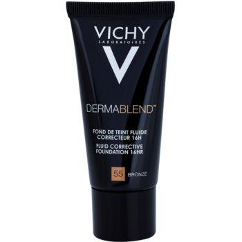 Vichy Dermablend fondotinta correttore SPF 35 colore 55 Bronze (Fluid Corrective Foundation 16 h) 30 ml