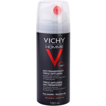 Vichy Homme Déodorant antitraspirante spray 72 ore (Triple Diffusion Anti Perspirant) 150 ml