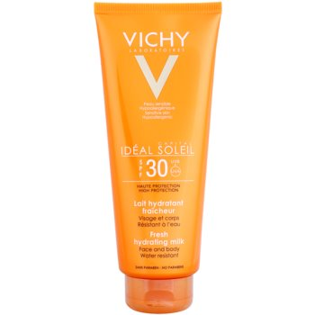 Vichy Idéal Soleil Capital latte protettivo per corpo e viso SPF 30 (Water Resistant, Fragrance Free, Paraben Free, Hypoallergenic) 300 ml