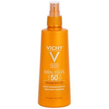 Vichy Idéal Soleil Capital spray protettivo con effetto idratante SPF 50+ (Hypoallergenic, No Parabens) 200 ml