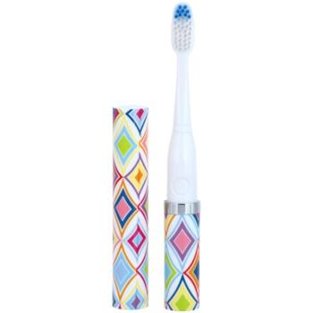 Violife Slim Sonic Crawford spazzolino da denti sonico a batterie con testina di ricambio (AAA Battery, For Home and Travel)