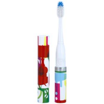 Violife Slim Sonic Stylish spazzolino da denti sonico a batterie con testina di ricambio (AAA Battery, For Home and Travel)