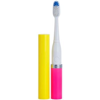 Violife Slim Sonic Sunset spazzolino da denti sonico a batterie con testina di ricambio (AAA Battery, For Home and Travel)