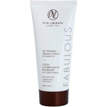 Vita Liberata Fabulous crema autoabbronzante trasparente per un'abbronzatura graduale (With Marula Oil) 200 ml