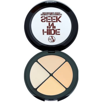 W7 Cosmetics Hide 'N' Seek correttore contro le imperfezioni della pelle colore Natural (Concealer Quad) 5 g