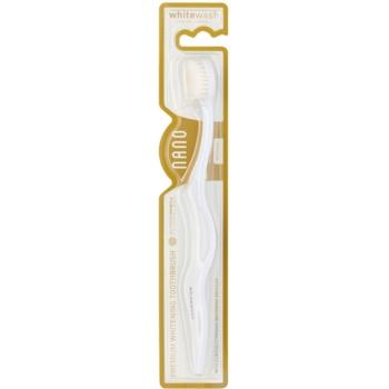 Whitewash Nano spazzolino da denti per la prevenzione e la rimozione delle macchie medium (With Clinically Proven Whitening Bristles)