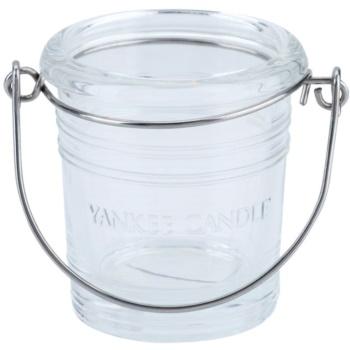 Yankee Candle Glass Bucket porta-candele votive in vetro    (Pure)