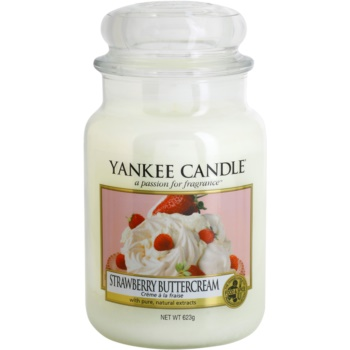 Yankee Candle Strawberry Buttercream candela profumata 623 g Classic grande