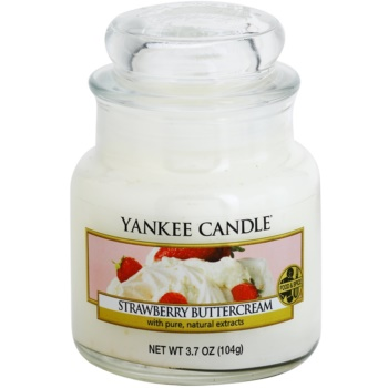 Yankee Candle Strawberry Buttercream candela profumata 104 g Classic piccola