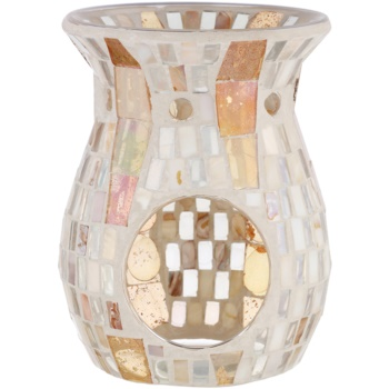 Yankee Candle Gold Wave Mosaic lampada aromatica in vetro