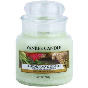 Yankee Candle Lemongrass & Ginger candela profumata 104 g Classic piccola