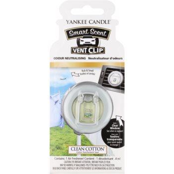 Yankee Candle Clean Cotton Deodorante per auto 4 ml clip