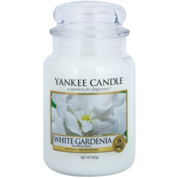 Yankee Candle White Gardenia candela profumata 623 g Classic grande