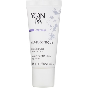 Yon-Ka Contours Alpha gel antirughe rigenerante per i contorni occhi e labbra Fruit Acids (96% Ingredients of Natural Origin) 15 ml